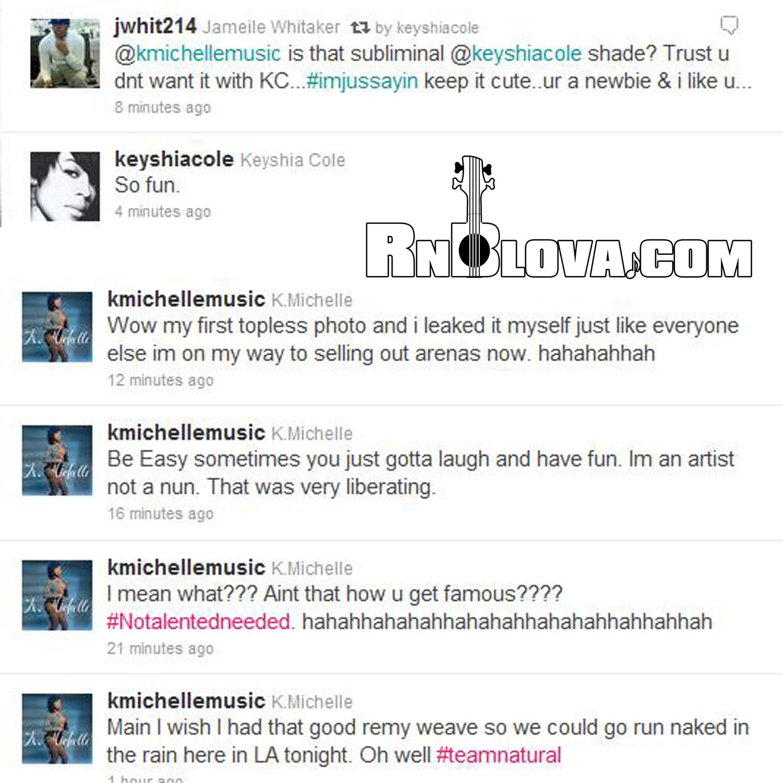 Twitter Beef? @KMichelleMusic vs. @KeyshiaCole | RnBLova.com K Michelle And Memphitz Twitter Beef